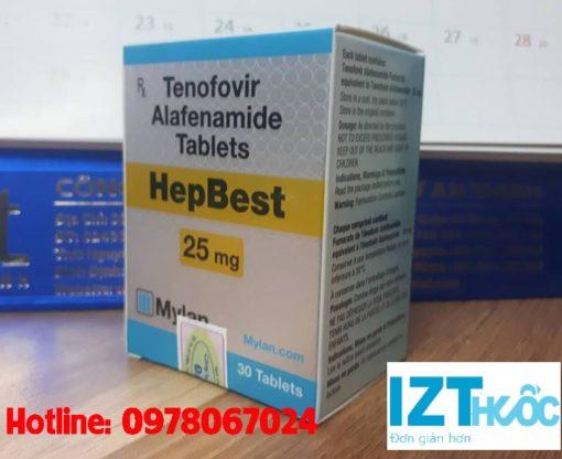 thuốc Hepbest 25mg giá bao nhiêu, mua ở đâu tốt nhất tphcm hà nội