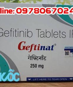 thuốc Geftinat 250mg điều trị ung thư phổi, thuốc Geftinat giá bao nhiêu mua ở đâu chính hãng
