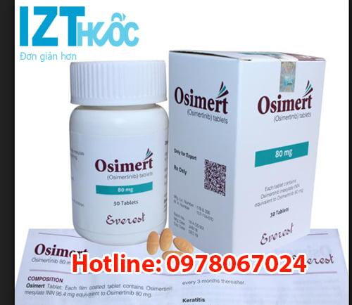 Thuốc Osimert 80mg là thuốc gì? có tác dụng gì? giá bao nhiêu? mua ở đâu? công dụng thuốc osimert điều trị ung thư phổi